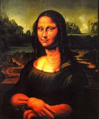 Ilusión visual Mona Lisa