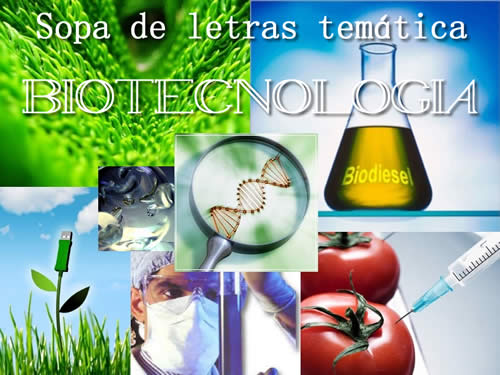 Sopa de letras. Biotecnología