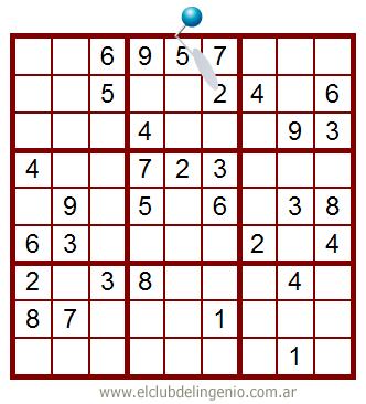 Sudoku de fácil resolución