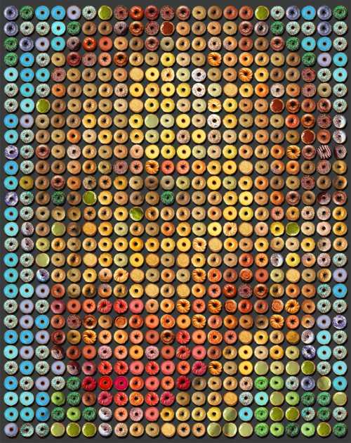 """Impresionantes retratos realizados con """"donuts"""""""