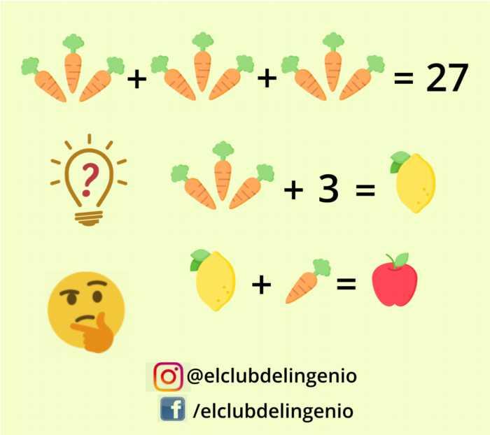 Gimnasia mental con frutas y hortalizas