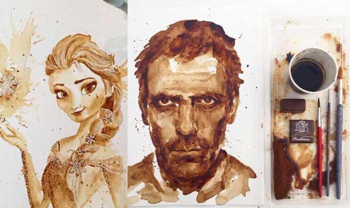 Creatividad y genialidad para pintar con café