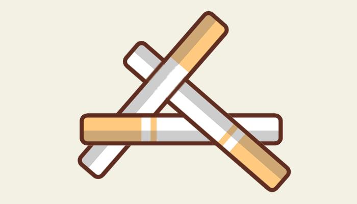 Un juego con cigarrillos