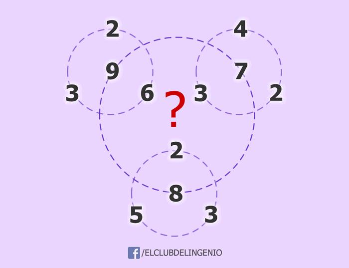 Encuentra la relación entre los círculos y los números