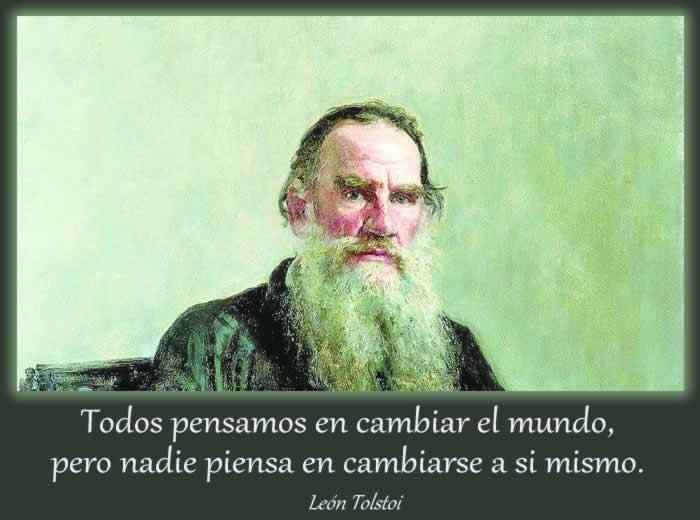 Una cita de León Tolstoi