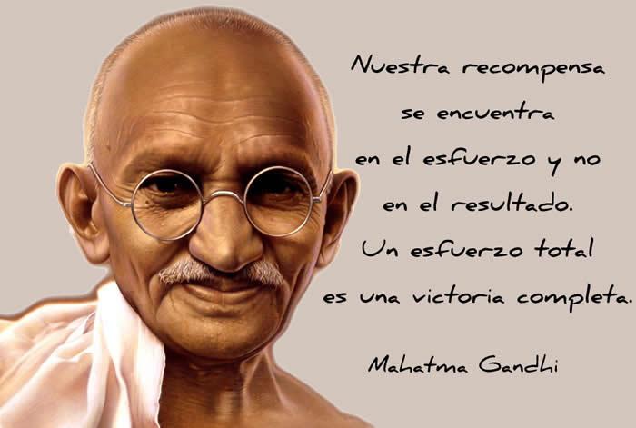 Una frase inspiradora de Mahatma Gandhi