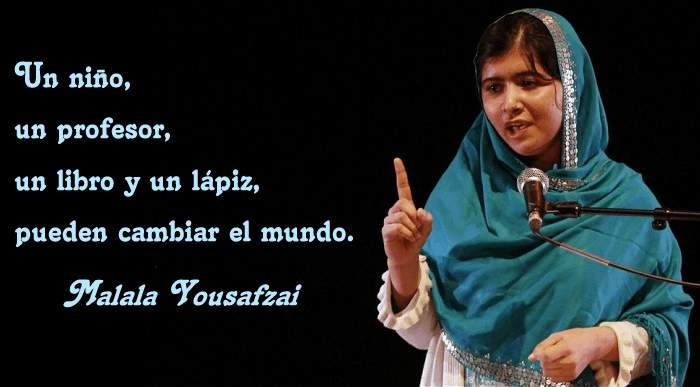 Una cita de Malala Yousafzai