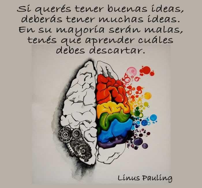La generación de ideas según Linus Pauling