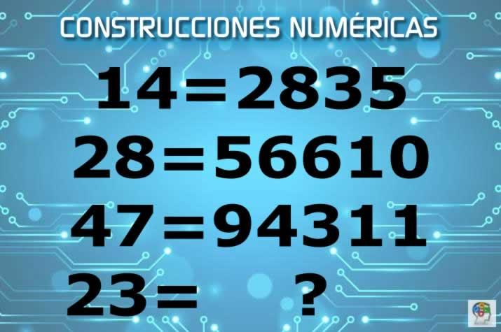 Completa las construcciones numéricas. Un juego de lógica y razonamiento