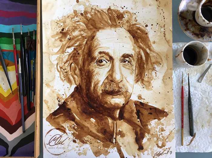 Creatividad y genialidad para crear arte con café