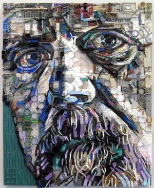 Retratos hechos con basura