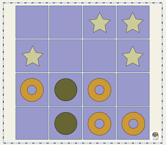 Dividir el tablero. Un juego de percepción visual