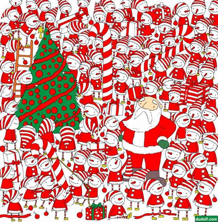 Encuentra el gorro de Papá Noel