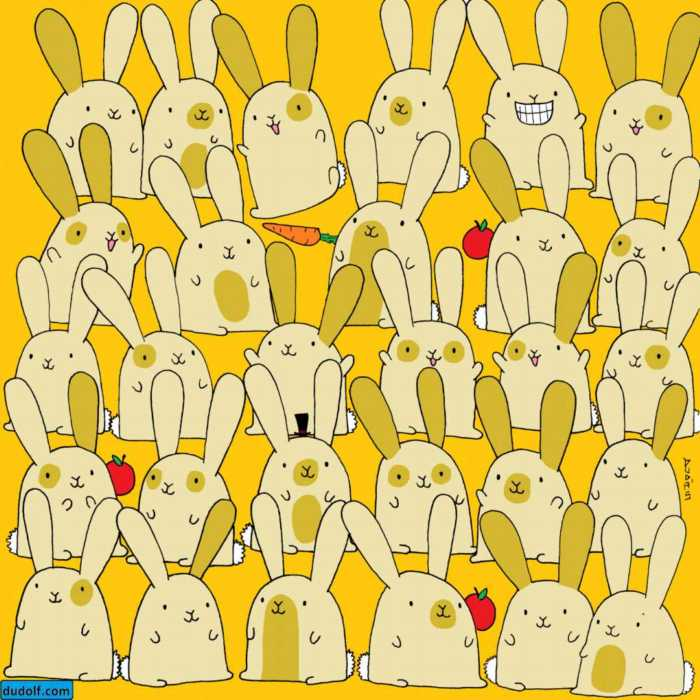 Juega y entrena tu percepción visual con estos conejos