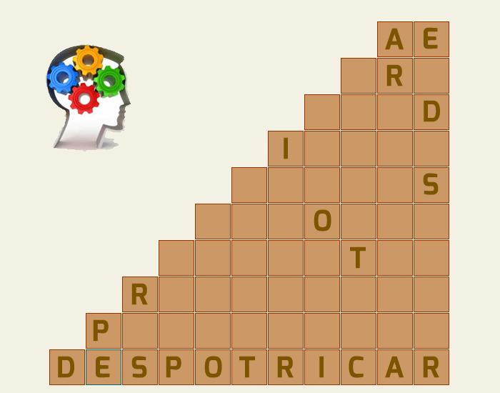Creando una pirámide de palabras