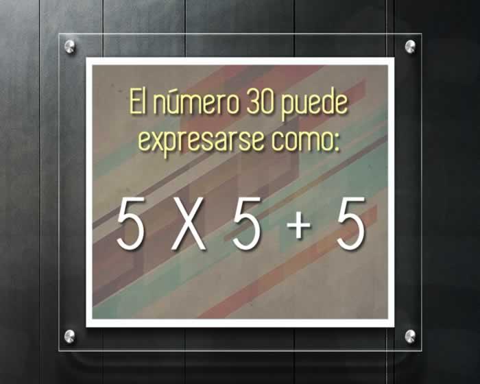 Expresar números creativamente