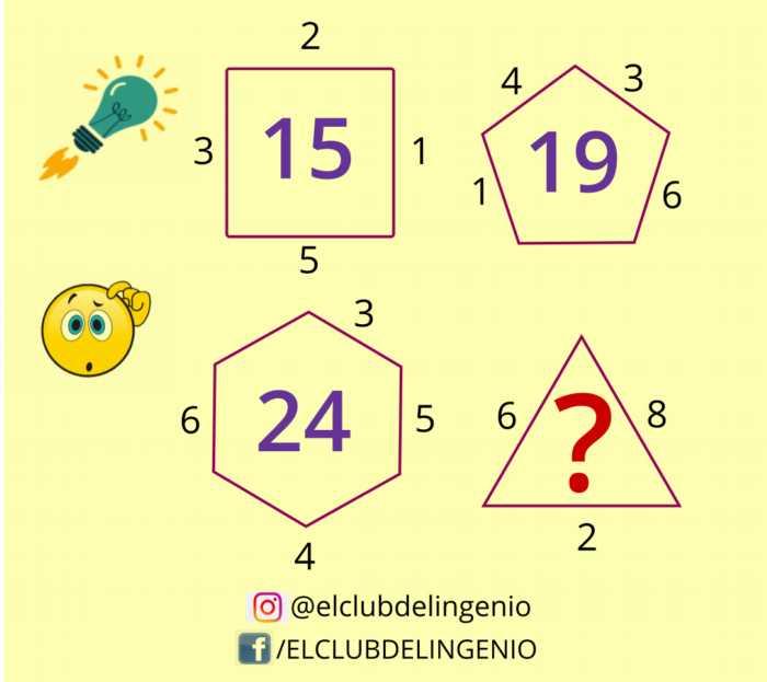 Gimnasia mental con números y figuras geométricas
