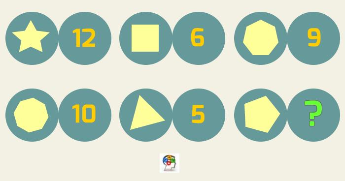 Serie incompleta de formas y números