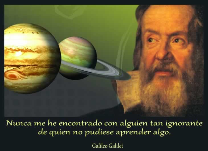 Una frase de Galileo Galilei