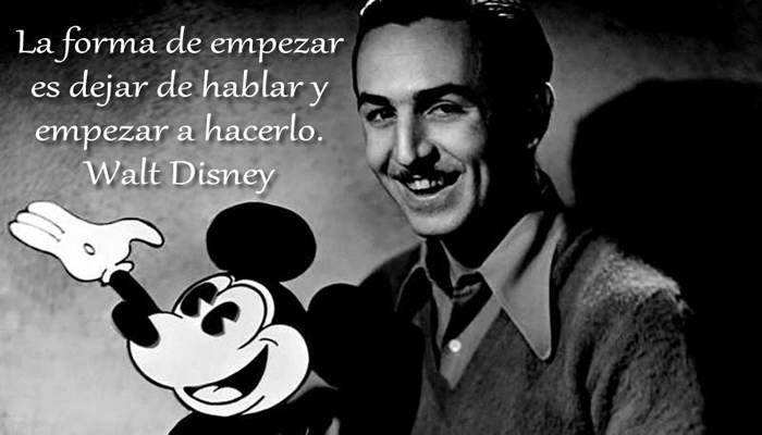Una cita de Walt Disney
