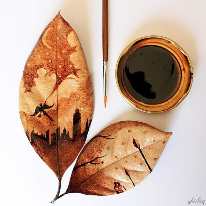 hojas-pintadas-con-cafe