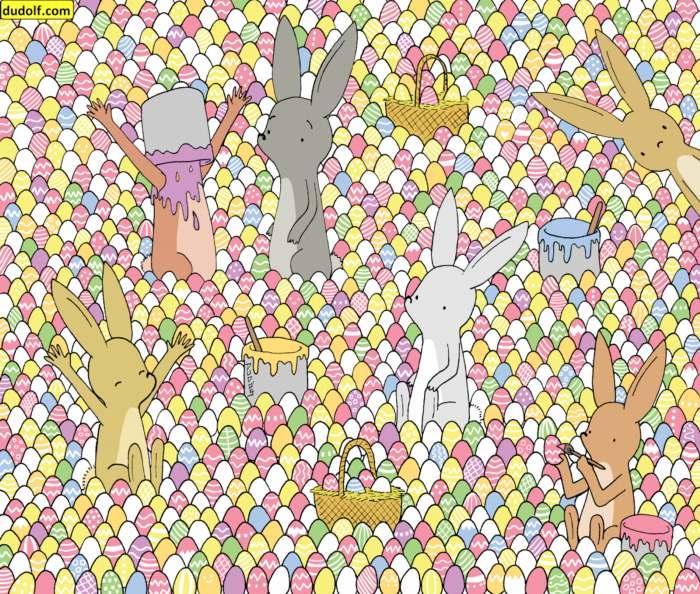 Muchos huevos de pascua y un solo corazón
