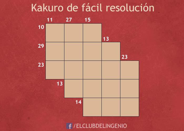Un Kakuro fácil de resolver
