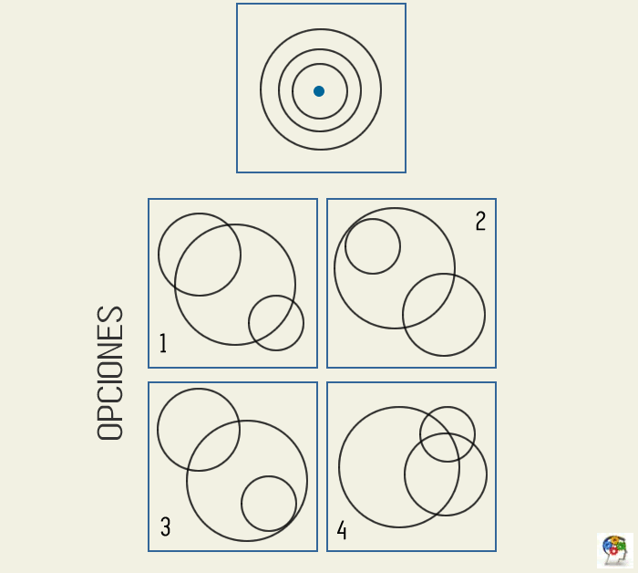 Combinando círculos. Juego de lógica y razonamiento