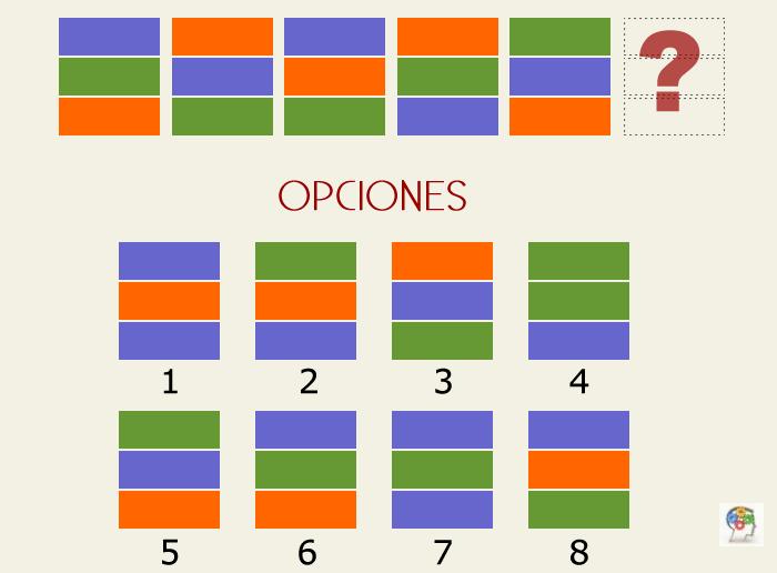 Serie de figuras geométricas y colores