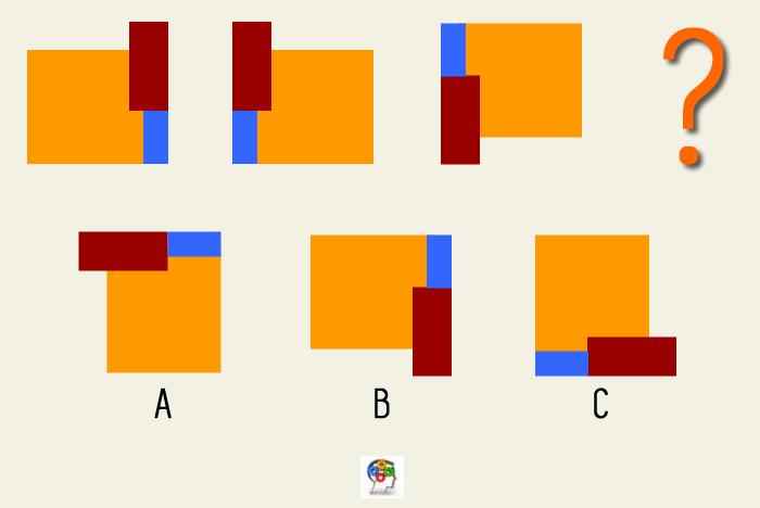 Una serie de figuras y colores. Un juego de lógica