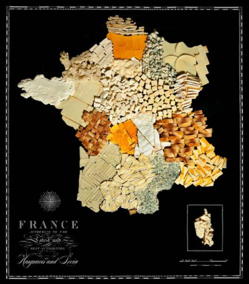 Mapas hechos con alimentos