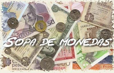 Sopa interactiva de monedas del mundo