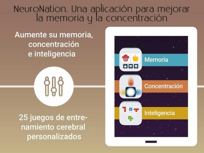 NeuroNation. Una aplicación para mejorar la memoria y la concentración
