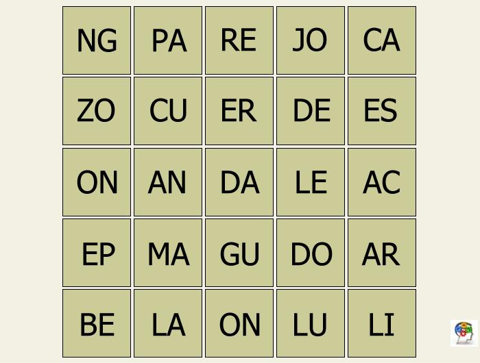 Organizar grupos de letras