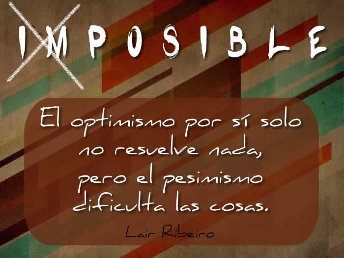 Una cita sobre el optimismo