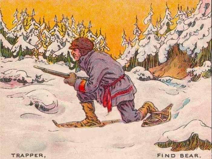 El cazador busca al oso