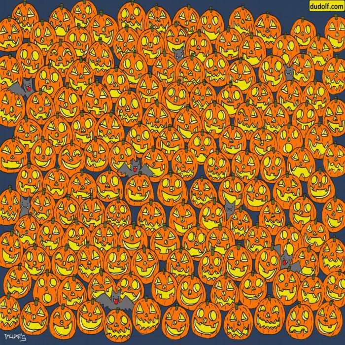 Un nuevo juego de percepción visual para Halloween