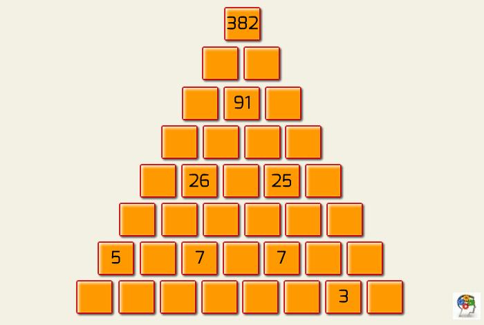 Pirámide de números. Desarrolla el cálculo mental
