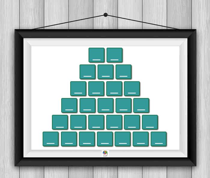 Construye esta pirámide de palabras