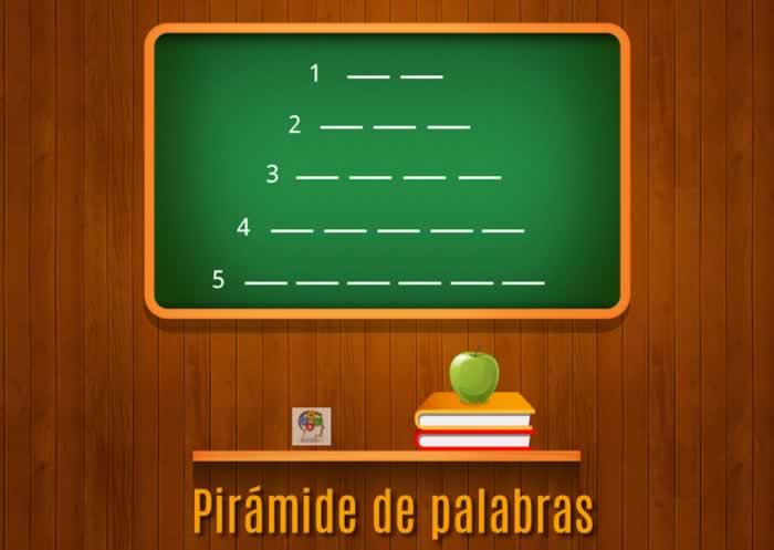 Construye esta pirámide de palabras y mejora tu vocabulario