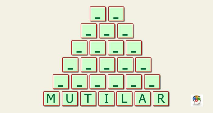 Completar la pirámide de palabras