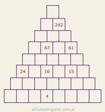 Nueva Piramide Numerica El Club Del Ingenio Juegos Para Entrenar