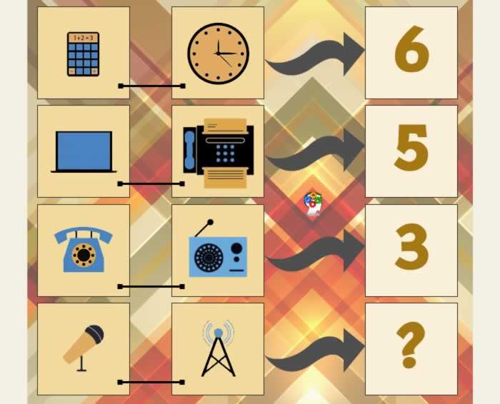 Relación entre objetos y números. Otro juego de lógica