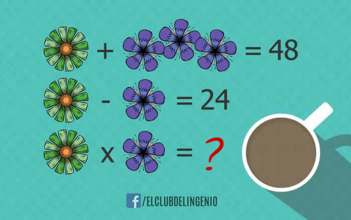 Diviértete y resuelve este rompecabezas lógico matemático