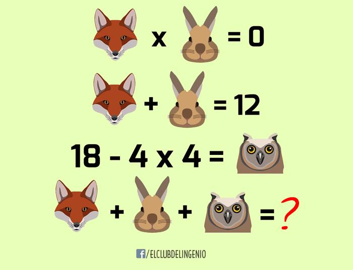 ¿Puedes encontrar el valor de cada animal?