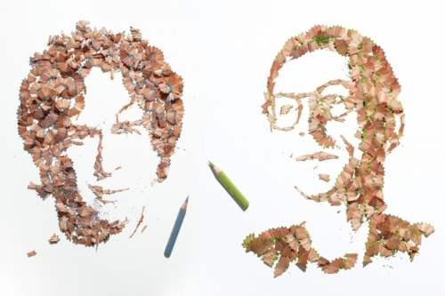 rostros-con-viruta-de-lapices