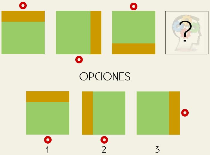 Razonamiento y lógica para completar la serie