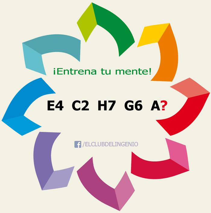Serie incompleta de letras y números