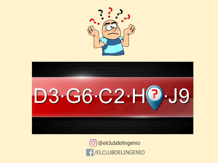 Una serie de números y letras para que transpiren tus neuronas