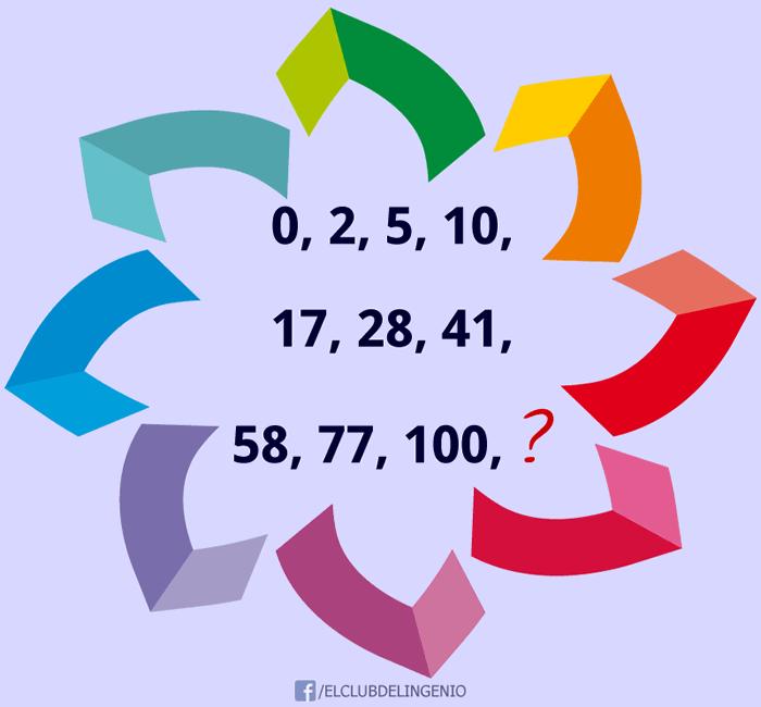 Juega y completa la serie de números